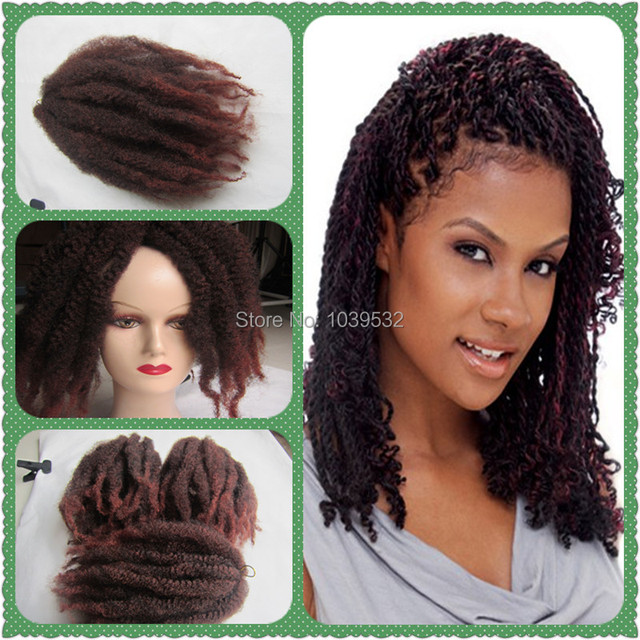 Synthetic Afro Kinky Curly Hair Marley Braiding Mixed