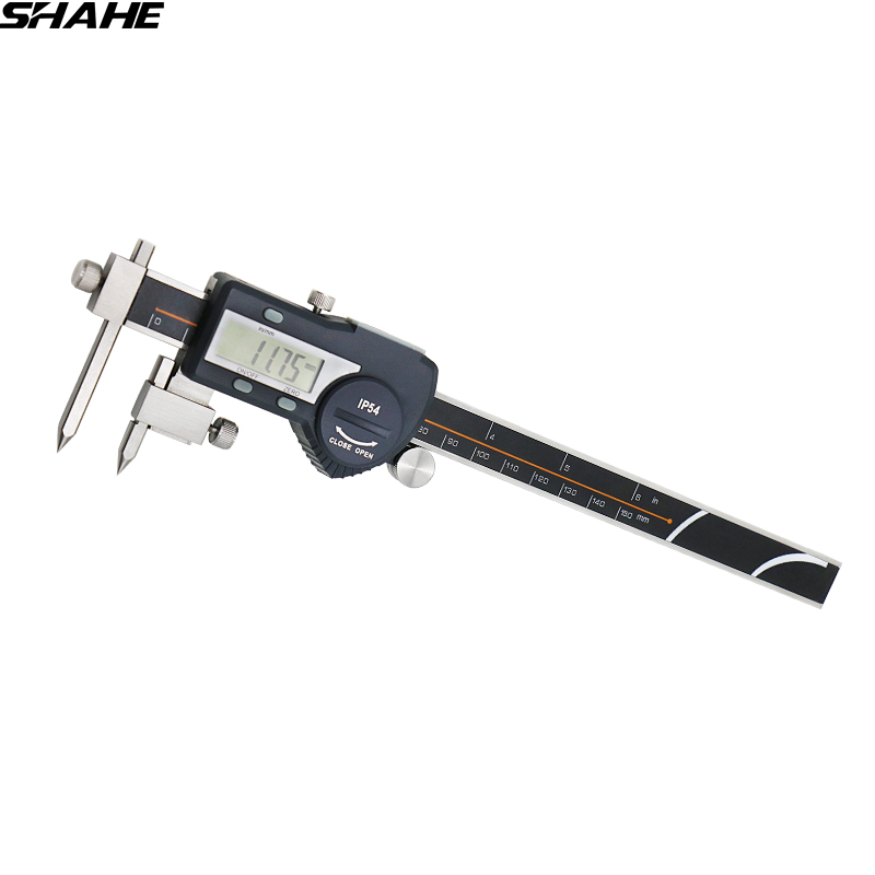electronic digital center distance caliper 5-150 mm digital micrometer digital caliper steel electronic digital caliper digital diai gem caliper measures from 0 12 7 mm 0 5 by 0 01 mm 0 0005 goldsmith tool caliper jewelry measurement tools
