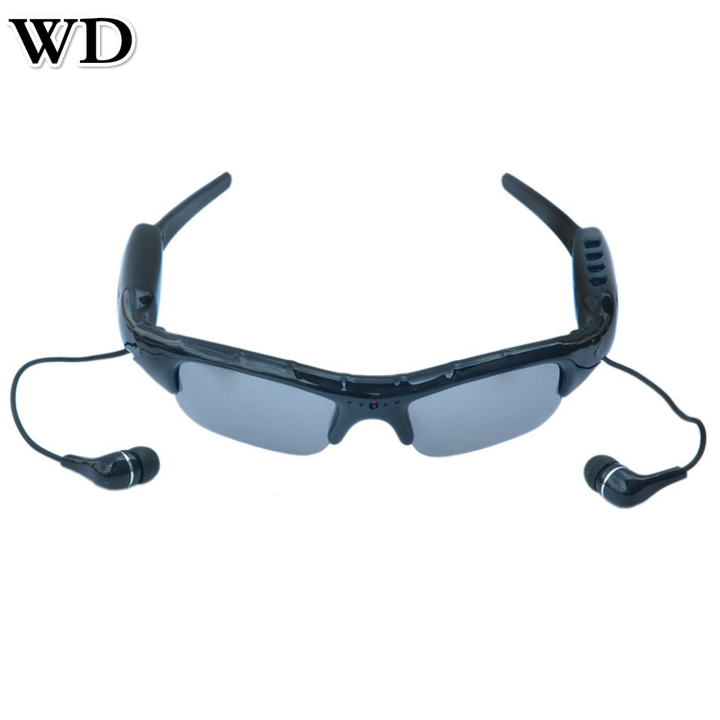 NEW WD SM07B 720P Bluetooth Video Camera Glasses Mobile Eyewear Recorder Sunglasses Support DV MP3 Music