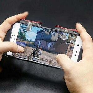 Image 5 - 2PCS Handy Spiel Controller Gaming Trigger Feuer Taste L1R1 Trigger Ziel Taste Shooter Joystick Für PUBG Telefon Gaming