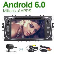Camera+Eincar 2 din Android 6.0 Quad Core Car PC DVD Player GPS Navigation for Ford Focus with gps Audio Radio Stereo Head Unit