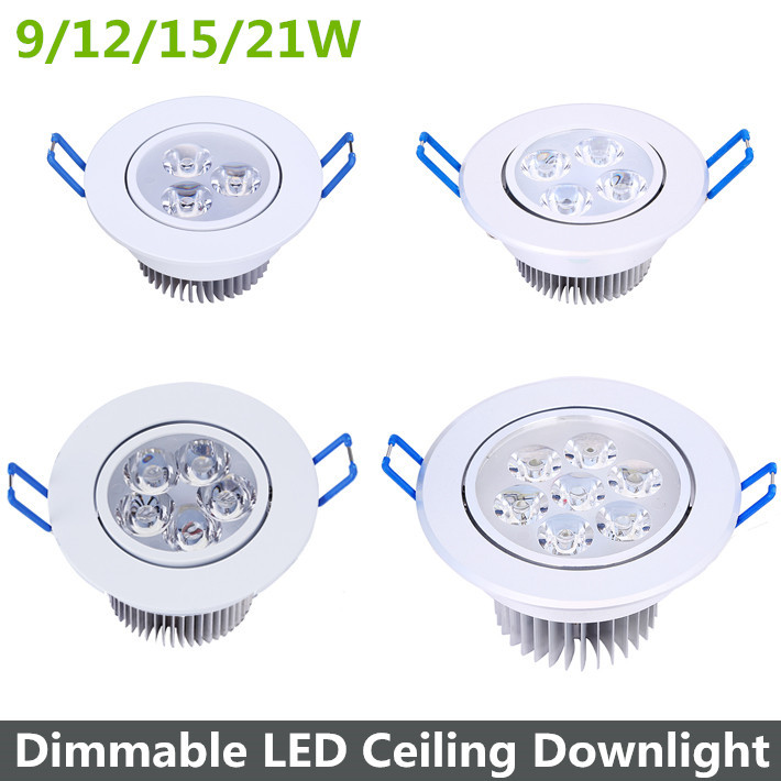 9/12/15 / 21W Dimbare LED-downlight Warm Wit / Koel Wit LED - LED-Verlichting