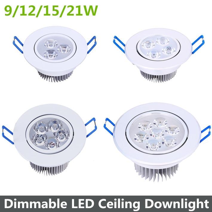 9/12/15 / 21W Dimmerd LED Downlight Varm Vit / Cool Vit LED Taklampa - LED-belysning