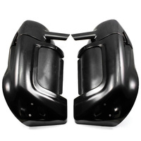 Neverland Motorcycle ABS Plastic Black Lower Vented Leg Warmer Fairings For Harley Touring Road King Electra
