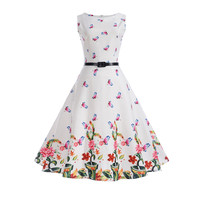 Mother Daughter Dresses Print Patchwork Floral Dress Sleeveless Party Girl Clothing Spring Summer Cotton Family Matching