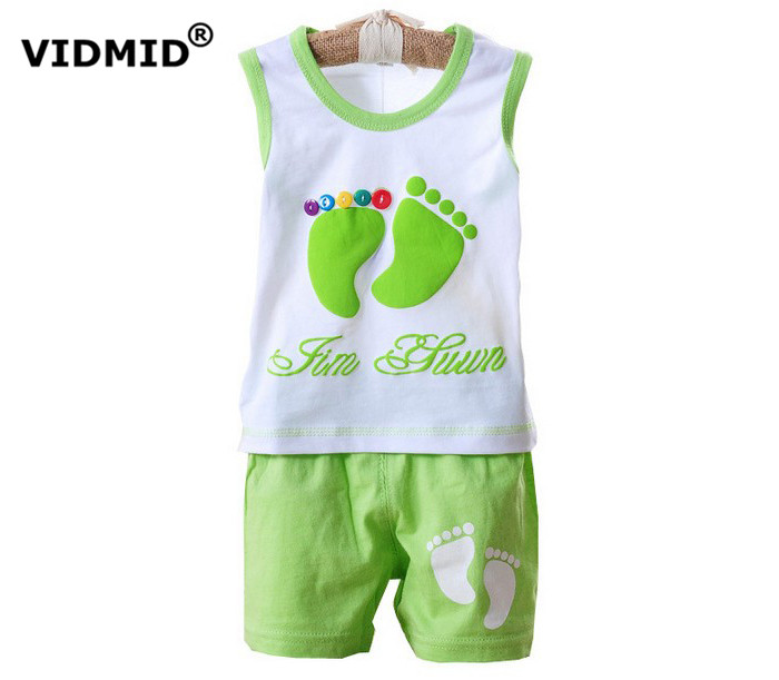 0-2Y Children clothing sets baby girl clothes boys t-shirt +shorts kids clothes infant baby clothing set Cotton toddler tank
