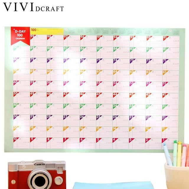 vividcraft 100 days countdown calendar school kids learning schedule