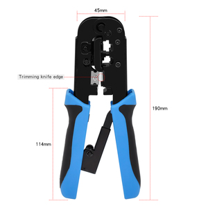 Image 5 - CNCOB rj45 crimper tool rj11 cat5e cat6 cable crimping tool network pliers tool 8P/6P multi function cable pliers, peeling shear