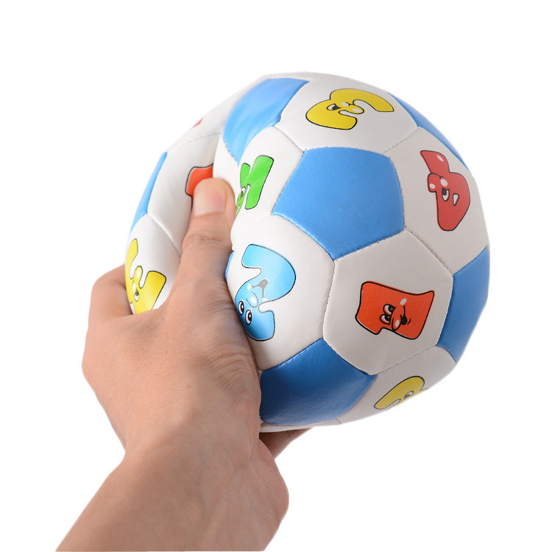 Mini Soft Ball Toy Baby Learning Color Number Rubber Ball Plaything Digital Ball