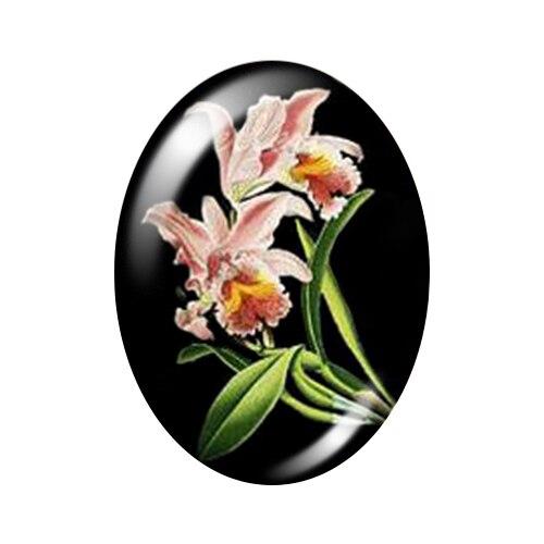 Красивые Винтажные Цветы Роза Маргаритка 10 шт. 13x18 мм/18x25 мм/30x40 мм овальные фото стекло кабошон демонстрационная плоская задняя часть изготовление TB0043 - Цвет: C