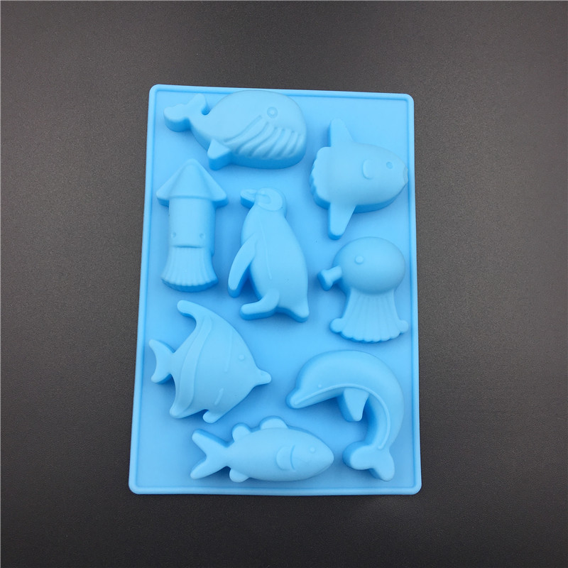 8 Sea World Dolphin Silicone Cake Mold Chocolate Mousse Mould Silicone Soap Jelly Mold image