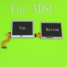 למעלה תחתון LCD תצוגת מסך עבור Nintendo DS Lite עבור NDSL משחק קונסולת תחתון למטה LCD מסך עבור NDSL תיקון חלק אבזרים
