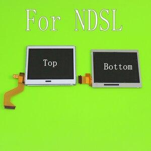 Image 1 - Üst alt LCD ekran ekran Nintendo DS Lite NDSL oyun konsolu için alt aşağı LCD ekran NDSL için onarım bölümü aksesuarları