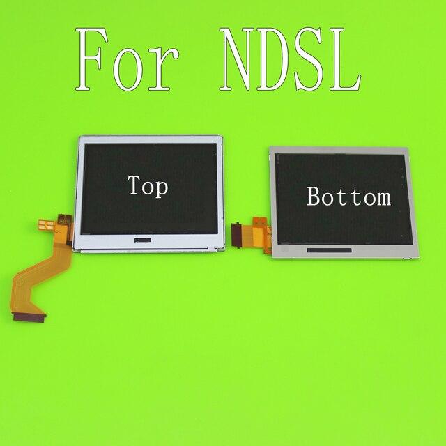 Üst alt LCD ekran ekran Nintendo DS Lite NDSL oyun konsolu için alt aşağı LCD ekran NDSL için onarım bölümü aksesuarları