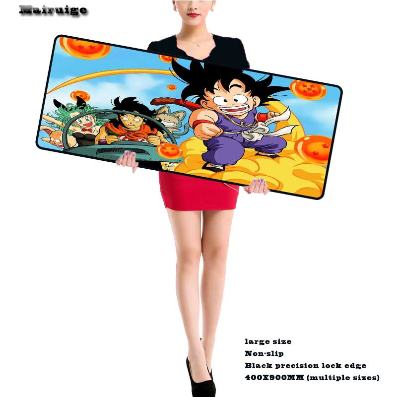 Mairuige 90*40cm Dragon Ball Z Mouse Pad Gaming Large Cartoon Anime Rubber Mouse Pad Keyboard Mat Table Mat for Dota 2 CS
