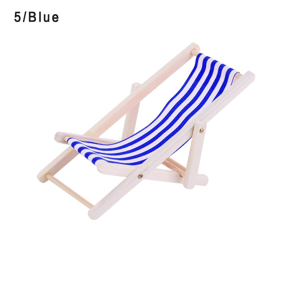 Miraculous Dolls House Miniature Blue White Striped Deck Chair Caraccident5 Cool Chair Designs And Ideas Caraccident5Info