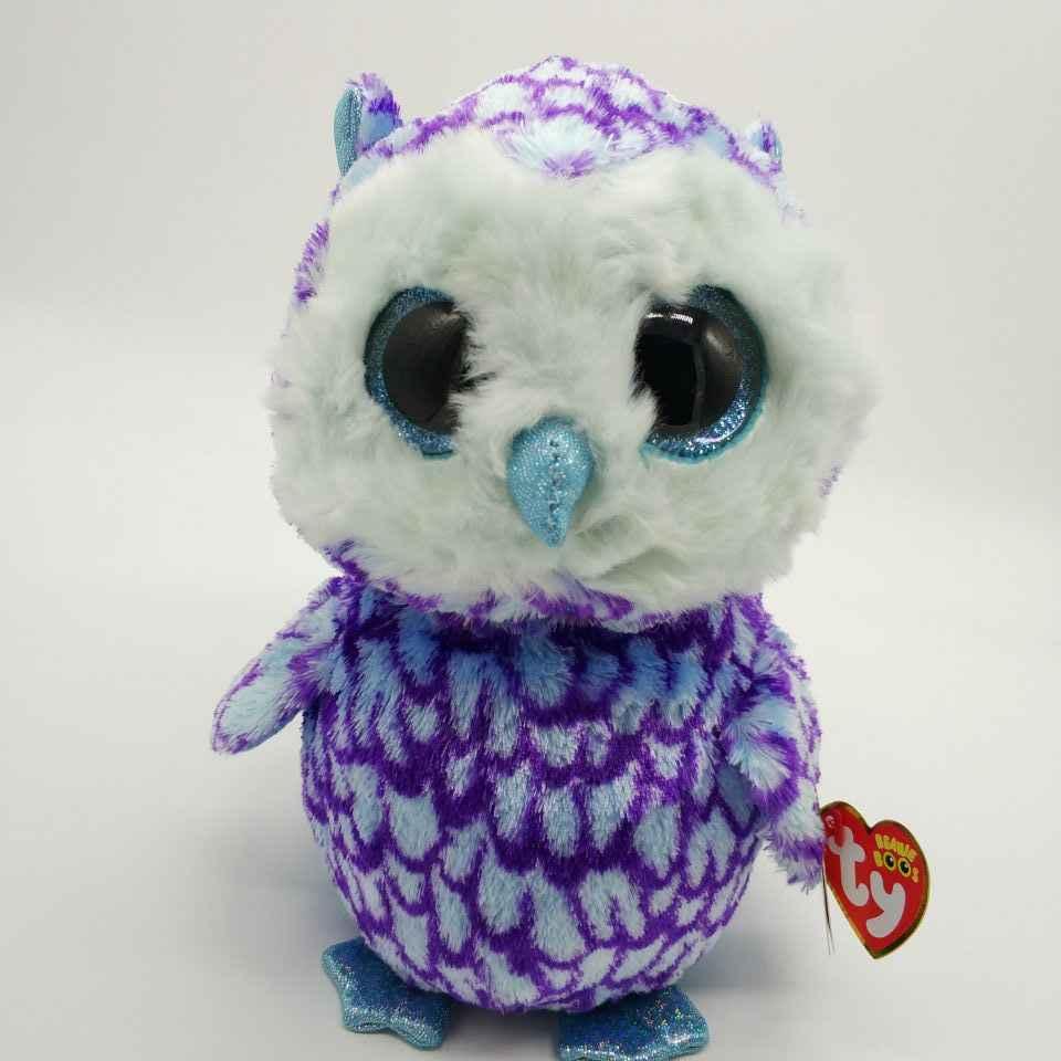 25CM Oscar OWL TY BEANIE BOOS 10  BIG EYE Plush Toys Stuffed animals soft  toy 4243264f48d1