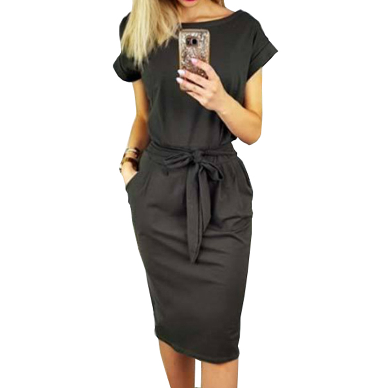2018 neue Sommer Frauen Kleid Knie-Länge Sexy Verband Bodycon Kleid Kurzarm Casual Kleider Sommerkleid Femme GV451