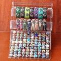 P00629 mais novo acrílico botão Snap pulseira de exibição destacável definir botões de pressão jóias para botão de pressão display