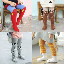 whole sale (2 pairs/lot) INS cute Cloud Horse superman Pattern Baby Tights Pantyhose Tights For Grils Warm Tights Winters 0-3T