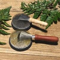 Japanischen ikebana Kenzan Pin reinigung rake Werkzeug Müll reinigung blume anordnung hilfs blumen werkzeuge