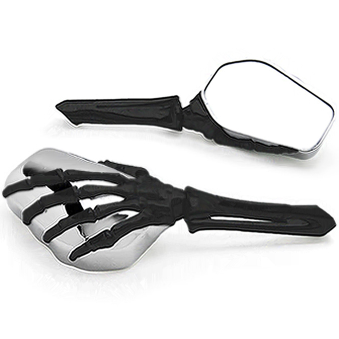 Free Shipping Black/Chrome Skeleton Hand Motorcycle Mirrors For Yamaha Raider S XV 1900 XV1900Free Shipping Black/Chrome Skeleton Hand Motorcycle Mirrors For Yamaha Raider S XV 1900 XV1900