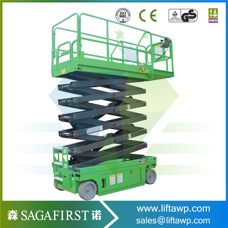 10m Automatic Battery Operated Scissor Man Lift Table-in Car Jacks ...