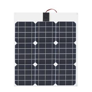 Image 3 - 柔軟なソーラーパネル30ワット/40ワット/60ワット/100ワット12v/16v/18 12v太陽エネルギー携帯モジュールバッテリー充電器パネル車/トラック/オートバイ