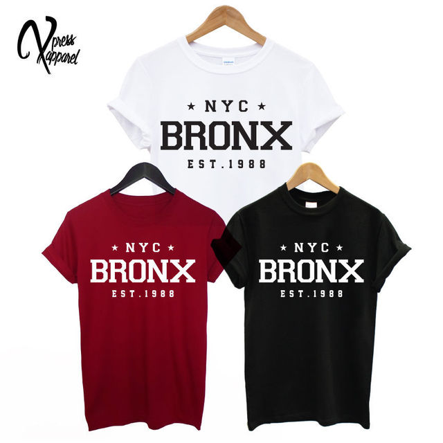 92a51b02c0618 NYC BRONX EST. T shirt homme imprimé NEW YORK STREET SWAG STAR ICON ...