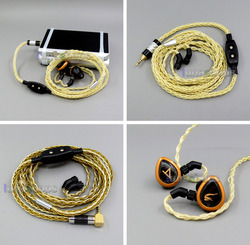 3.5mm 2.5mm 4.4mm Pure Silver+Gold Plated Mixed Headphone Cable For AKR03 Roxxane JH24 Layla Angie AK70 AK380 KANN LN006019