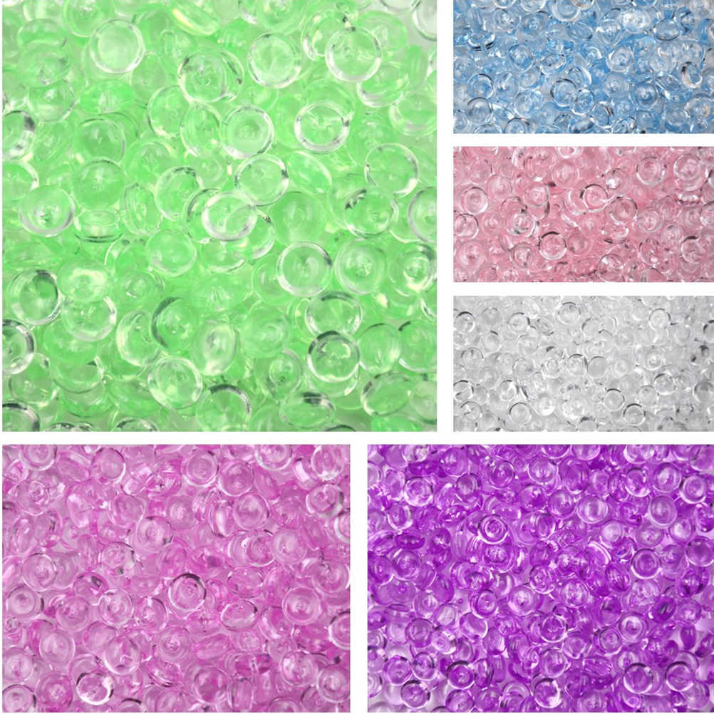 50g DIY Fluffy Slime Clay Anti Stress Toy Craft Creative Fishbowl Beads Plastic Acrylic Vase Fish Bowl Filler Toy Party Supply