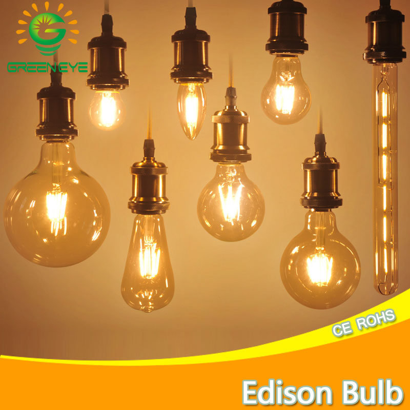 Retro Antique Led Edison Bulb E14 E27 Ampoule Vintage Led Filament Light Lampada 220v Led Energy Saving Lamp Candle Lights bulb smart bulb e27 7w led bulb energy saving lamp color changeable smart bulb led lighting for iphone android home bedroom lighitng