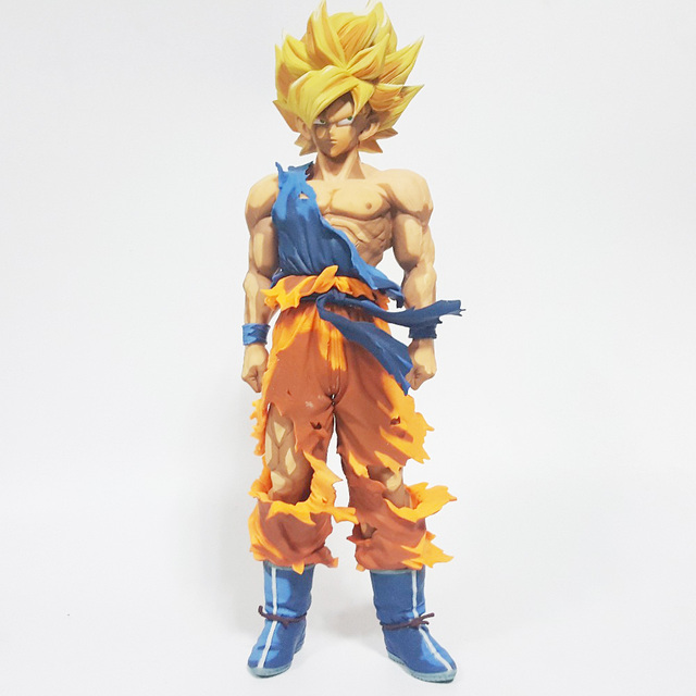 Dragon Ball Z Action Figures Son Goku Super Saiyan Cartoon Color ...
