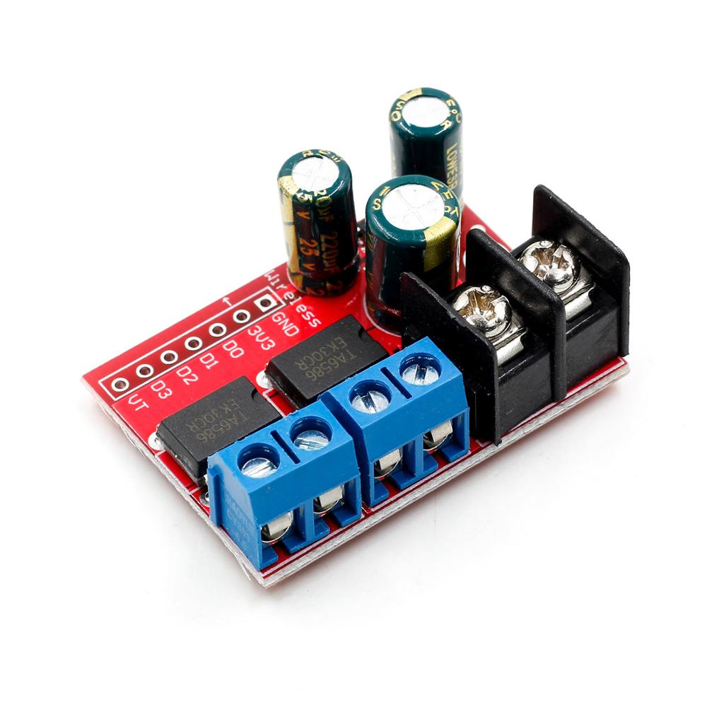 Image 2 - New 5A Dual DC Motor Drive Module Remote Control Voltage 3V 14V Reverse PWM Speed Regulation Double H Bridge Super L298N 5AD-in Integrated Circuits from Electronic Components & Supplies