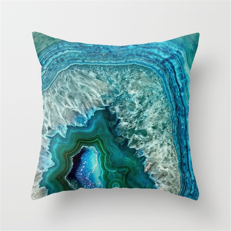 Cushion Cover Marble Geometric Back Cushion Cover Square Decorative Pillow Covers Throw Pillowcase Home Decoration 45x45cm