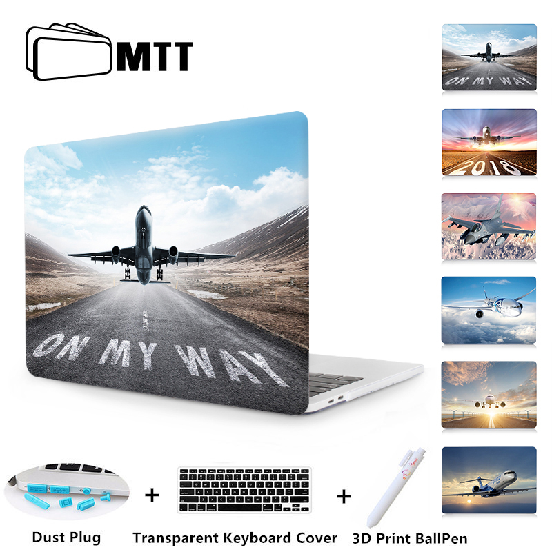цена на Laptop Case For Apple Macbook Air Pro 11 12 13 15 inch Retina Airplane Shell Cover for Macbook 2018 New Pro 13 15 A1989 A1990