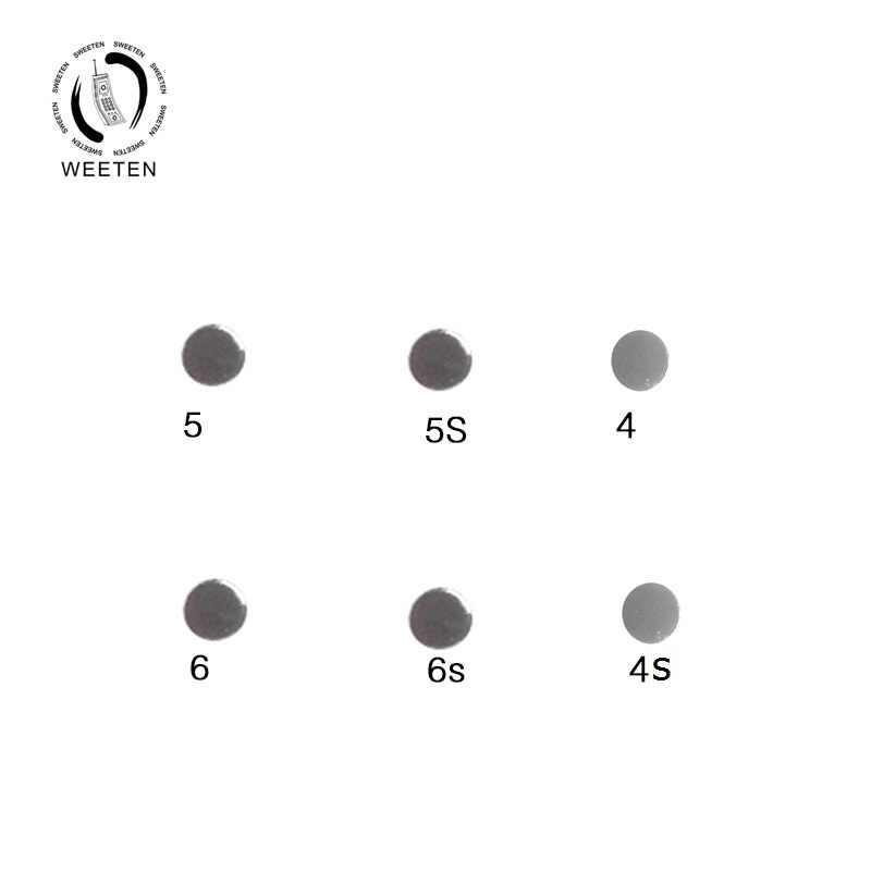 Casa y poder y de volumen botón en el lateral de metal junta para iphone 4 4S 5 5S 6 6s 7 7 8 x plus interior pequeño cojín metálico de reparación