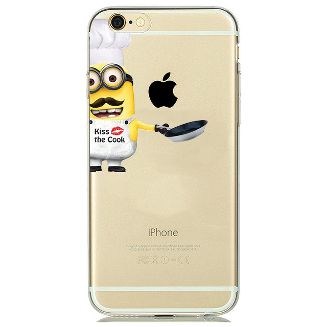Despicable Me Yellow Minion Case  for  iphone 7 6 6S 5 5SE