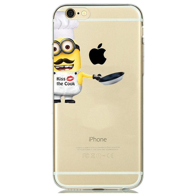 coque iphone 8 silicone minion