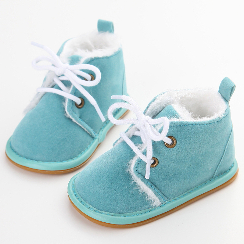 winter plush baby shoes for warm boots free shipping