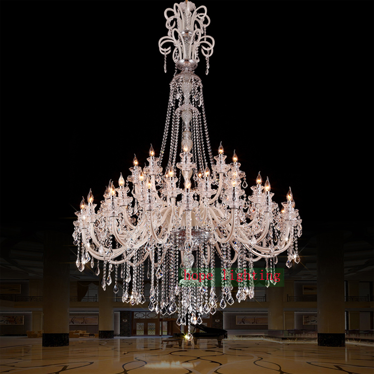 Large crystal chandeliers for hotels modern chandelier high ceiling large crystal chandeliers for hotels modern chandelier high ceiling villa club level chandelier led elegant lighting chandeliers in chandeliers from lights aloadofball Image collections