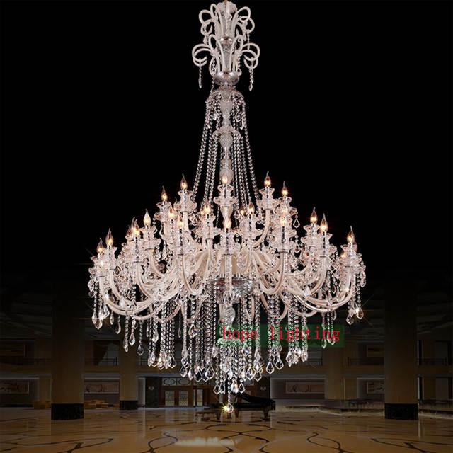 Us 2550 0 15 Off Large Crystal Chandeliers For Hotels Modern Chandelier High Ceiling Villa Club Level Led Elegant Lighting In