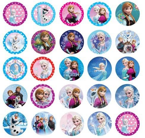 Hot Sales Frozen Design Elsa Amp Anna Buckle Plastic Emblem