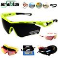 Queshark Full Red Revoed Lens Polarized Cycling Sunglasses Men Women Bike Bicycle Goggles Racing Glasses Sport Eyewear 4 Lens