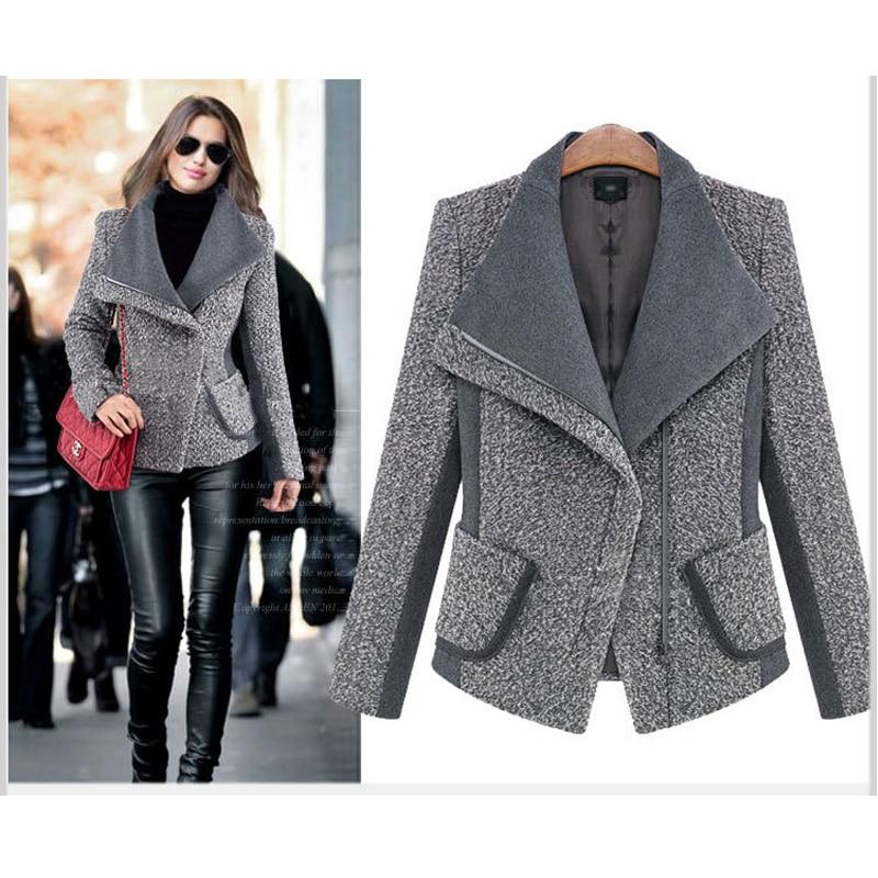 Uwback 2017 Spring Brand Trench Coat Women Patchwork Short Wool Coats Femme Fashion Outwear Windbreaker Coat