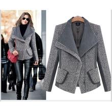 Uwback 2018 Spring Brand Trench Coat Women Patchwork Short Wool Coats Femme Fash