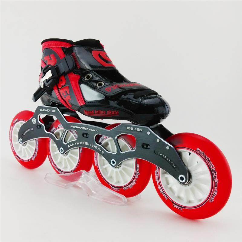 Prix pour Femmes/Hommes Patins Inline Chaussures De Patinage Professionnel Patins à roulettes Haute Résistance Cadre Cristal De Roue de Patinage De Vitesse