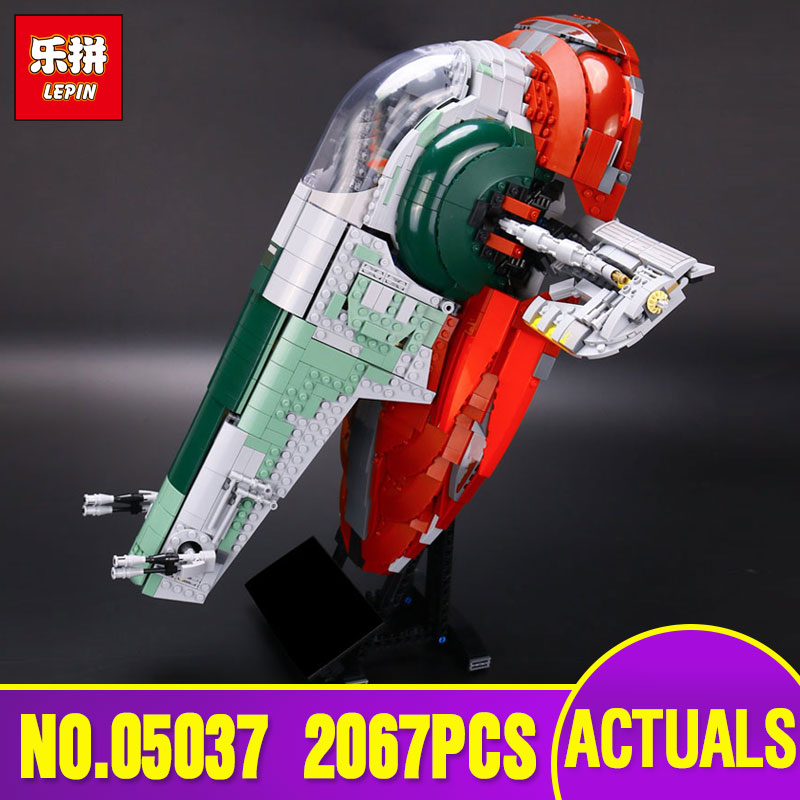 New LEPIN 05037 Star Series UCS Slave NO.1 Model 2067pcs Building Block Bricks Toys Wars Kits Compatible 75060 Children Gifts lepin 22001 pirate ship imperial warships model building block briks toys gift 1717pcs compatible legoed 10210