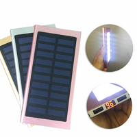 16000mAh 21LED Lights Solar Power Bank With LCD Thin External Solar Charger Powerbank 20000mAh For Mobile