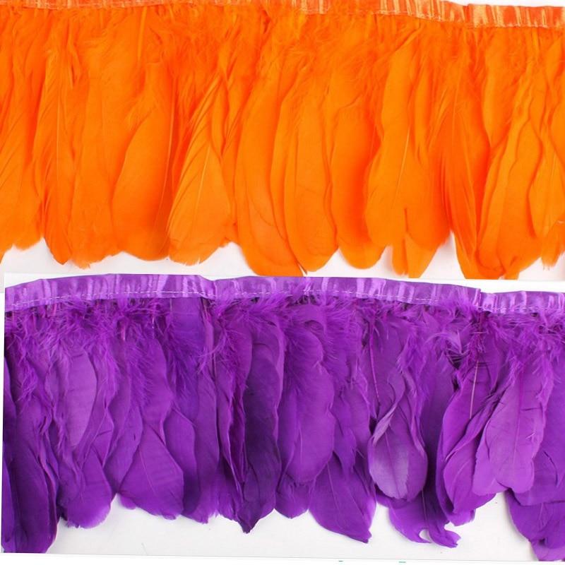 2 meter / los farbe gänsefedern 15 cm farbe federn gans rand bühne - Kunst, Handwerk und Nähen - Foto 3